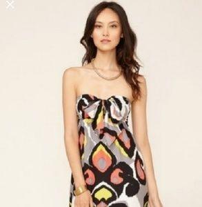 Silk Alice & Trixie Strapless Maxi Tie Front Dress